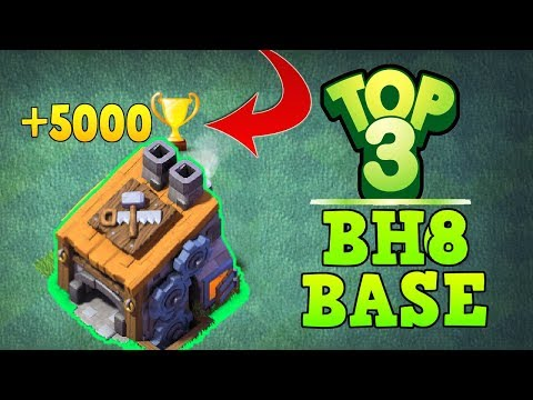 UNBEATABLE TOP 3 BEST BUILDER HALL 8 BASE!! +5000 TROPHY! | ANTI ALL MAX TROOPS | CLASH OF CLANS