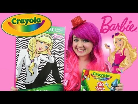 Barbie GIANT Coloring Page Crayola Coloring Book | COLORING WITH ...