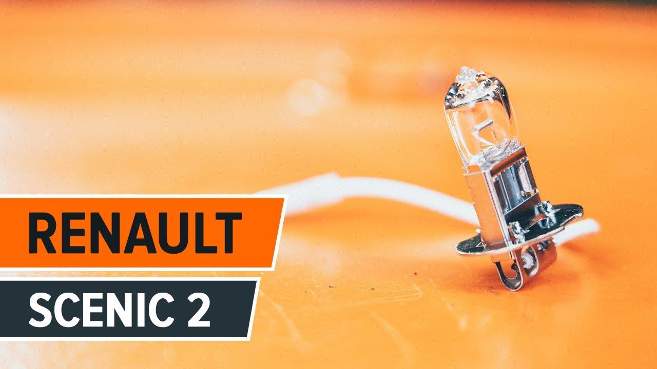 Jak Wymienić żarówki Oświetaljące Tablicę Rejestracyjną W Renault Scenic 2 Tutorial