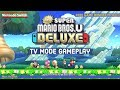 New Super Mario Bros U Deluxe TV Mode Gameplay (Free Game Winner Picked!)