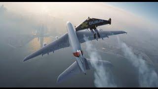 I Love Science RU / Пилоты на реактивных ранцах полетали над Дубаем вместе с Airbus A380(Совместный полет человека и гигантского лайнера Airbus A380. Впечатляюще! Швейцарский изобретатель Ив Росси..., 2015-11-06T13:28:41.000Z)