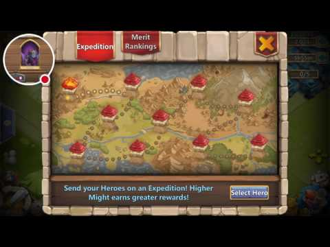 Castle Clash Quick Fire Best Heroes Hero's For Expedition No Mino !!!