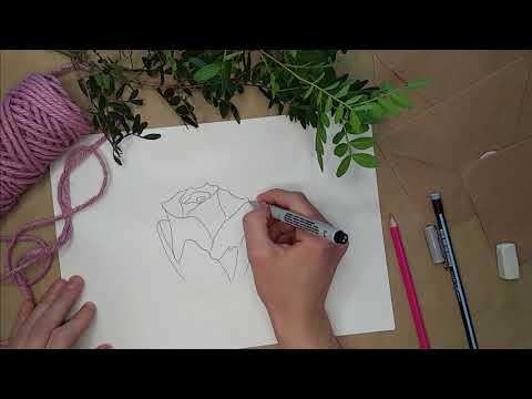 Как очень просто нарисовать Розу!