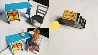 DIY Matchbox desk making / Matchbox table with drawers / Paper…