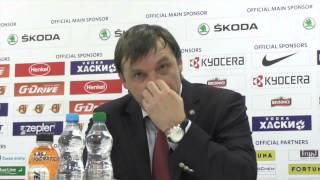Олег Знарок после матча с США.