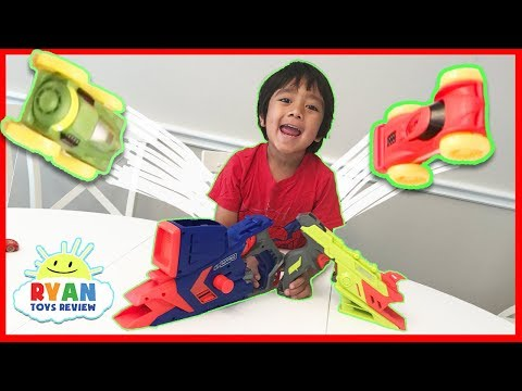 NERF Challenge Blaster Car Toys for kids with Nerf Nitro Ryan ToysReview