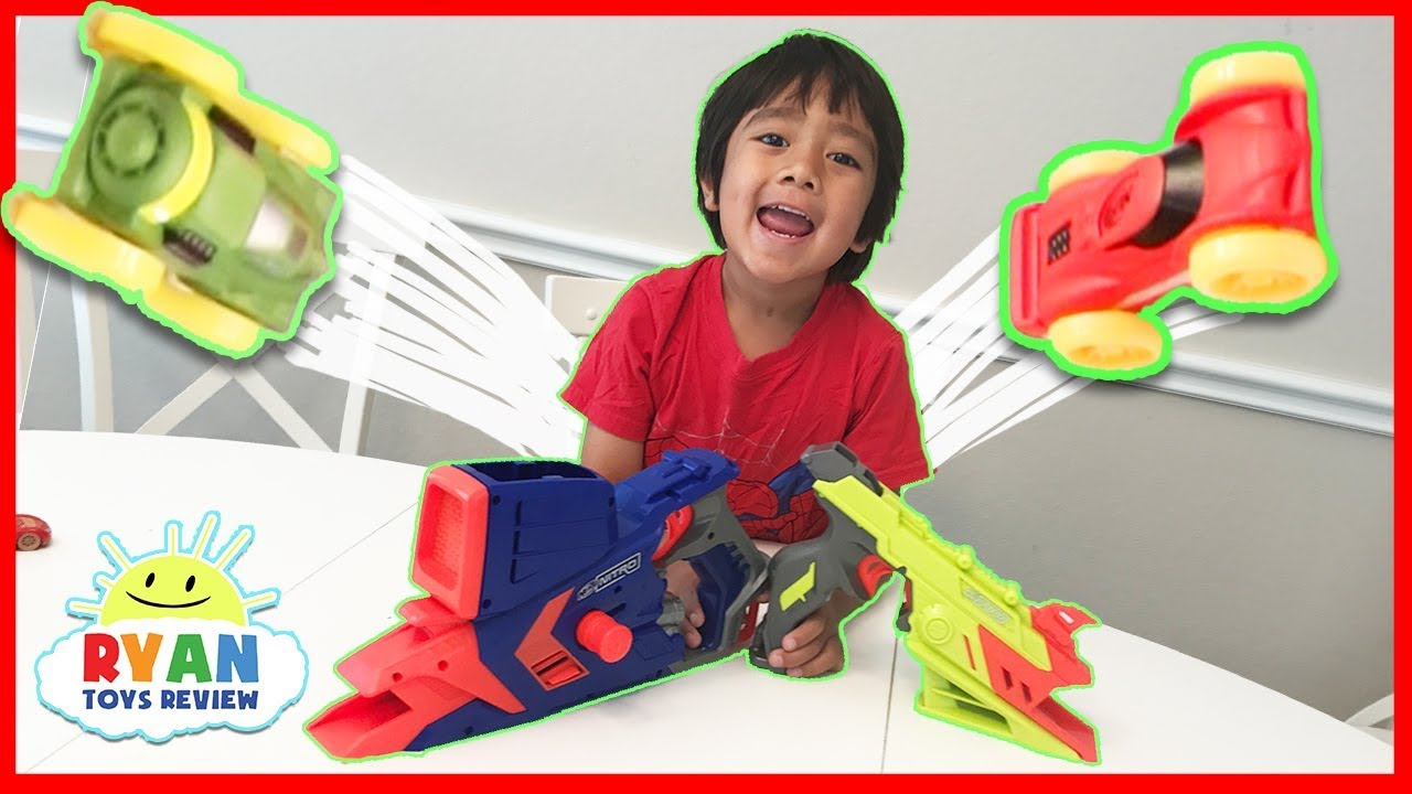 Top 10 nerf guns toy reviews for kids and parents - Nerf Challenge Blaster Car Toys For Kids With Nerf Nitro Ryan Toysreview