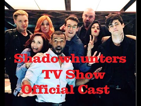 shadowhunters tv show official cast the mortal instruments youtube