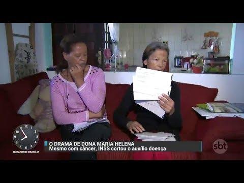Faxineira em tratamento contra o câncer tem auxílio-doença cancelado   Primeiro Impacto (07/11/17)