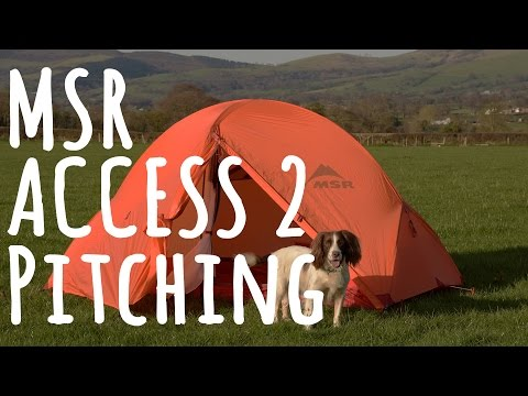 Pitching the MSR Access 2 tent