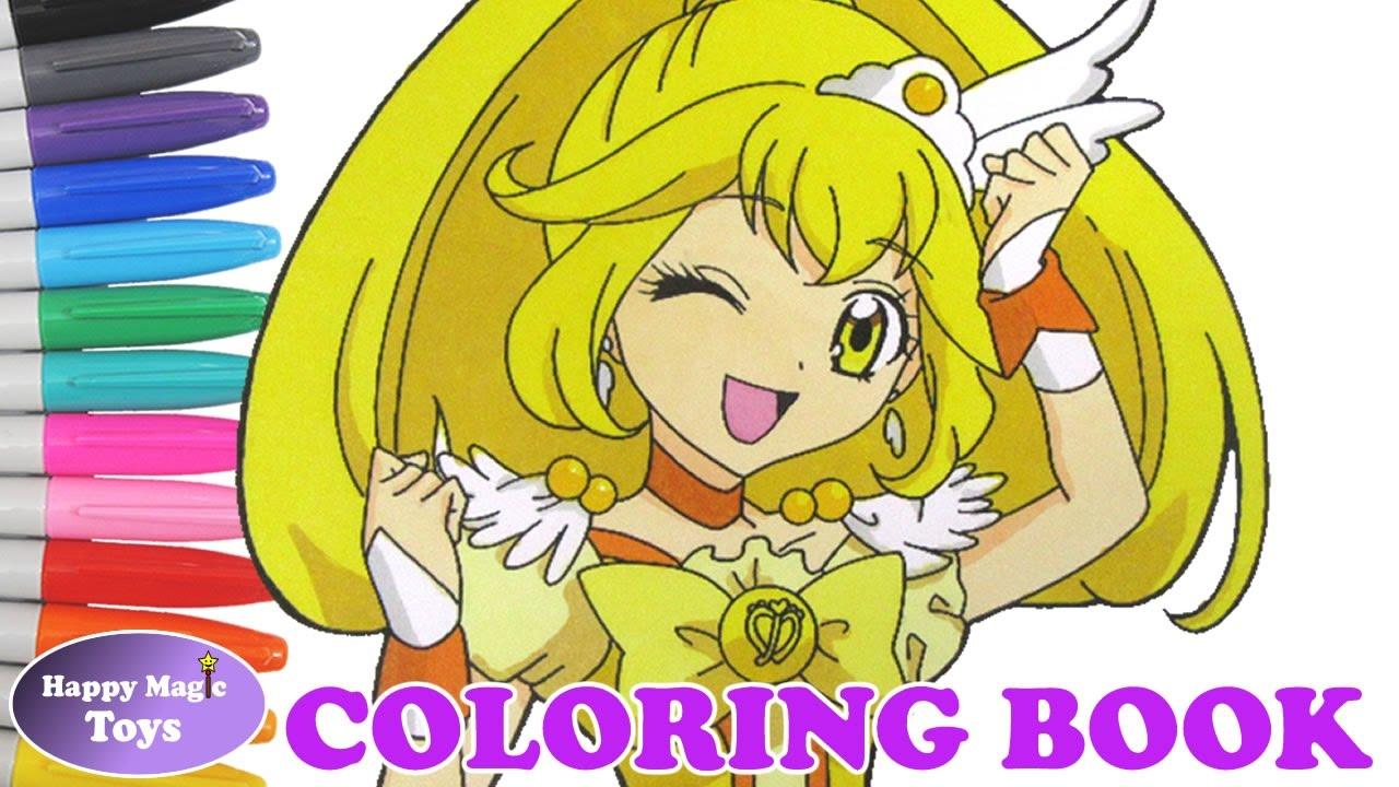 Glitter Force Peace Coloring Smile Precure Cure
