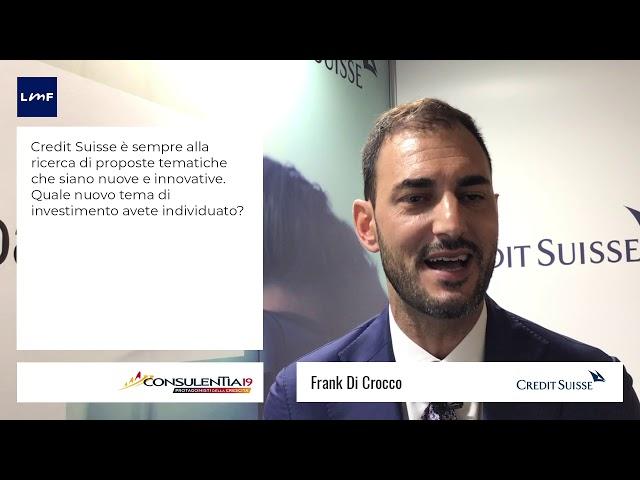 Consulentia 2019 - Frank Di Crocco (Credit Suisse)