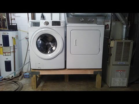 How to Build a Washer Dryer Pedestal