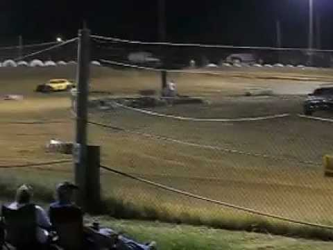 Mini Stock Race at Beebe Speedway. 6-29-12