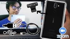 How to use Phone as a webcam via USB Method