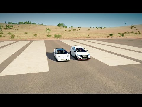 2016 Honda Civic Type R vs 2005 Honda NSX-R DRAG RACE! Forza Horizon 3