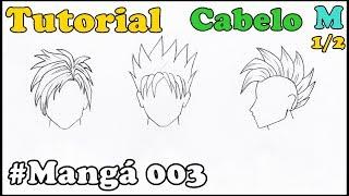 Como Desenhar Cabelo Masculino Mangá 003 - How to Draw Manga
