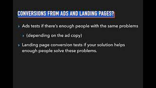 Idea Validation Course - 4. Review - Ad vs Landing Page Conversions thumbnail