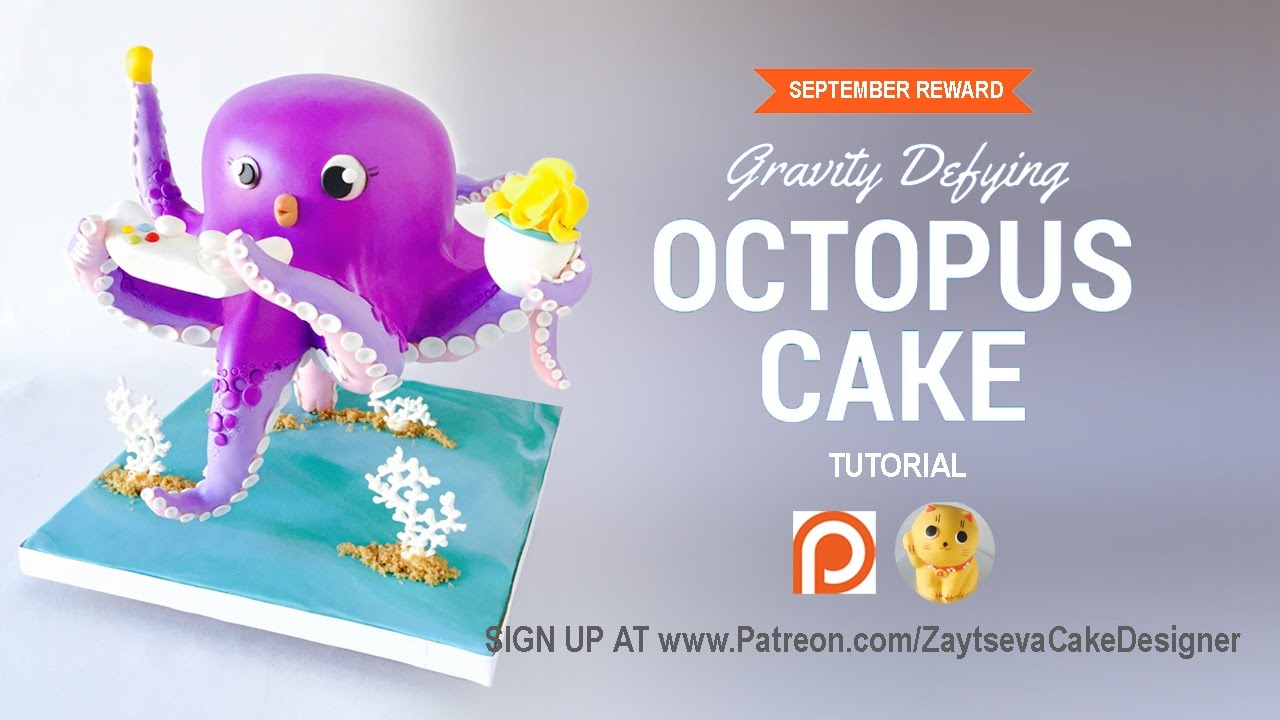 5 Tutorials For Defying Gravity: How To Make Gravity Defying Octopus Cake. Tutorial Trailer