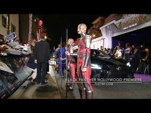 """Inside The """"Black Panther"""" Hollywood Premiere!"""