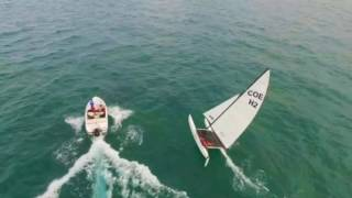 Hobie 16 Flying Hull Drone Footage