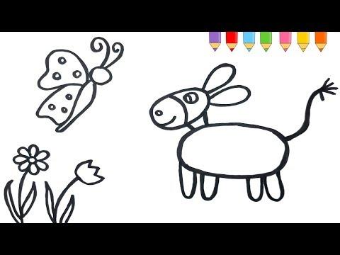 Boyama Sanatı Onev Nasıl çizilir çocuklar Için Ev Resmi Boyama Ve