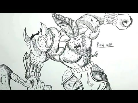 Cara Menggambar Minotaur Hero Mobile Legends How To Draw Minotaur