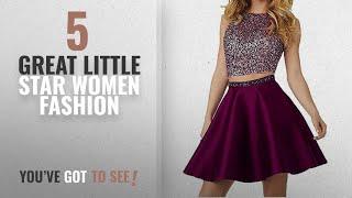 Little Star Women Fashion [2018 Best Sellers]: Little Star Grape Satin Homecoming Dresses Short 2017