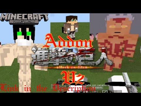 Minecraft 1 2 Addon Attack On Titan v2( Download link in The description)