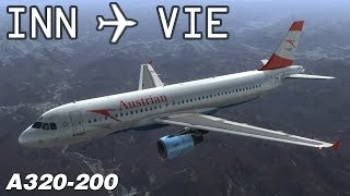 [FSX] Innsbruck to Vienna | AUA916 | Austrian Airlines | Airbus X Extended A320 | IVAO