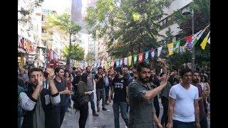 Ankara Kızılay'da HDP standına saldırı
