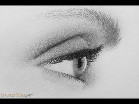 تعليم الرسم وأسهل طريقة لرسم العين من الجانب Youtube