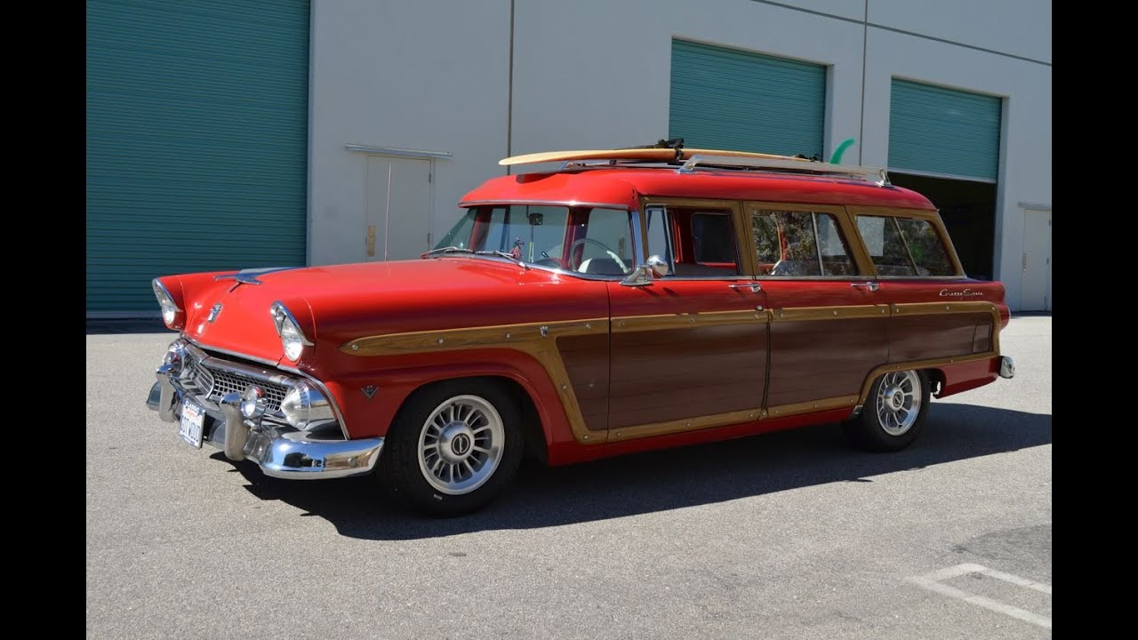 Sold 1955 Ford Country Squire Station Wagon Ca Youtube 1954