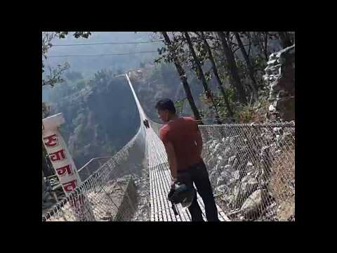 Dangerous longest and highest bridge of world located in kushma parbat nepal  ( संसारमै अग्लो पुल )
