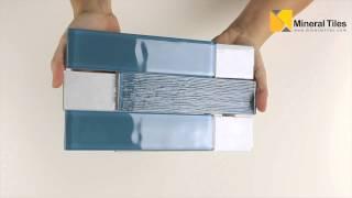 Glass Pool Tile Blue 2x8-120BELFROSAZURE28