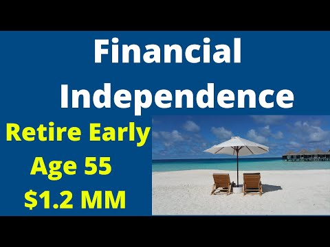 Financial Independence Retire Early Age 55 $1.2MM
