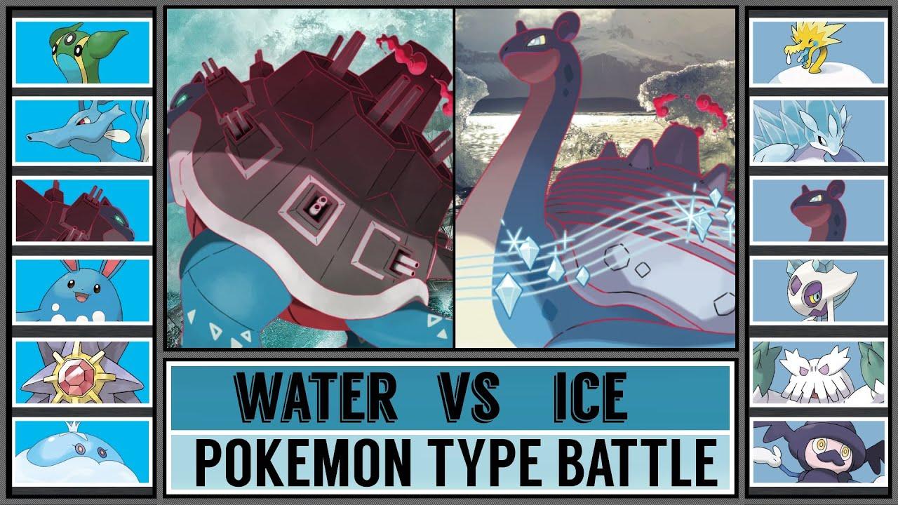 Pokémon Type Battle: WATER vs ICE