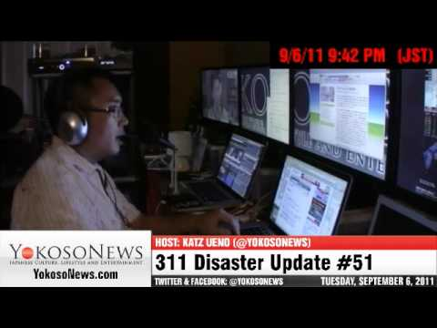 Japan Coast To Coast and Typhoon Talas Rain Storm - 311 Disaster Update #51