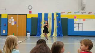 Jayden singing in the school talent show. Katy Perry- The One That Got Away