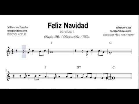 I Wanna Wish You a Merry Christmas Sheet Music for Alto Sax Horn and Baritone Sax Feliz Navidad