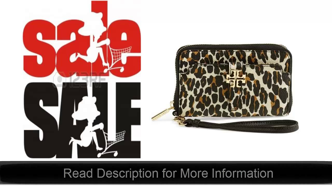 11971e4afb0e Plaque Leopard Print Smartphone Wristlet by Tory Burch Best Price Online  Deal