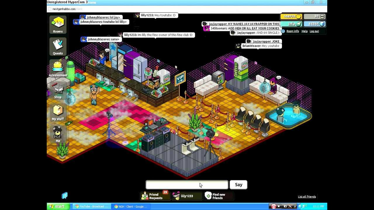 Next Gen Habbo NIGHTCLUB - YouTube