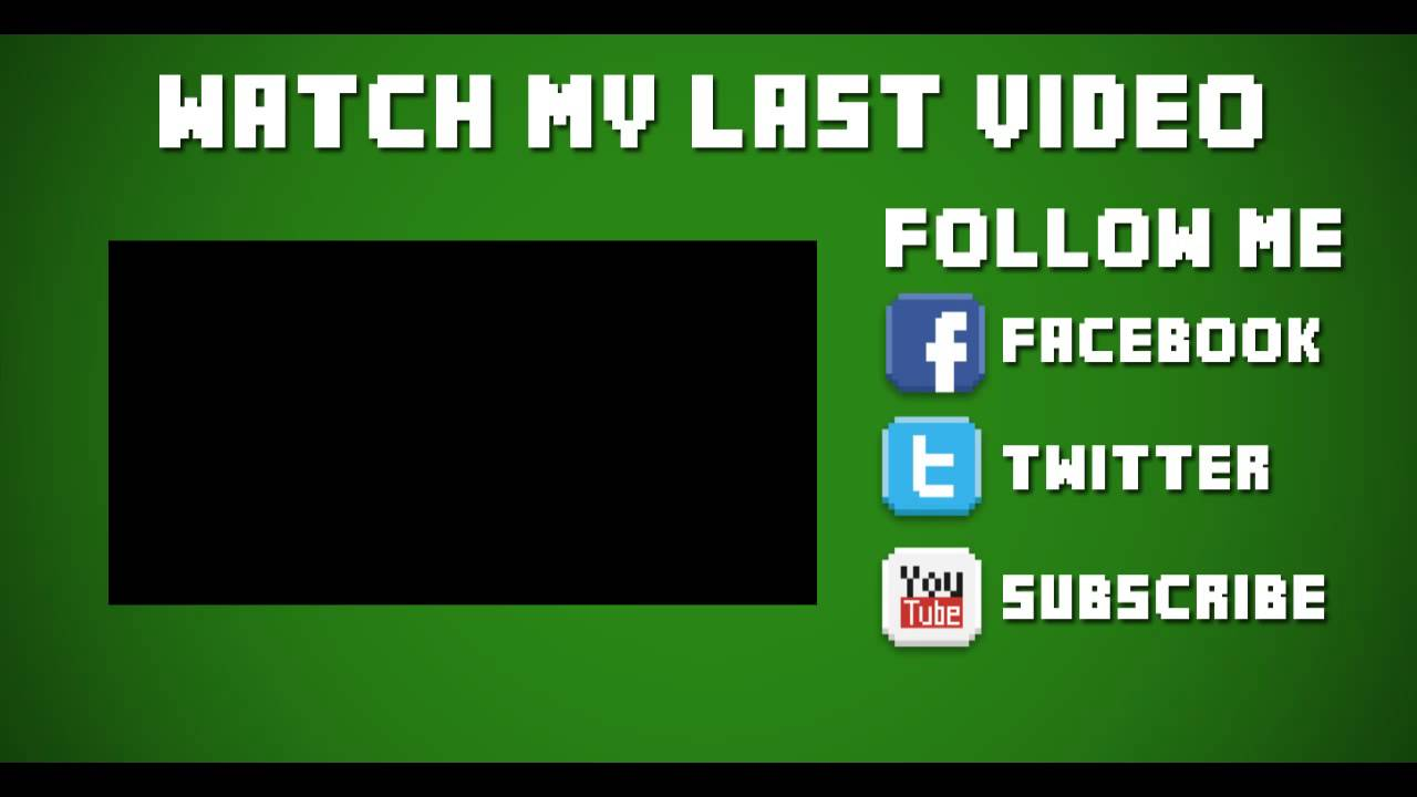 Template 18 2d minecraft outro after effects vegas avg ect youtube for Outro image