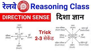 Railway रीजनिंग online class V.imp जरूर देखलेना //DIRECTION SENSE TEST [Hindi]