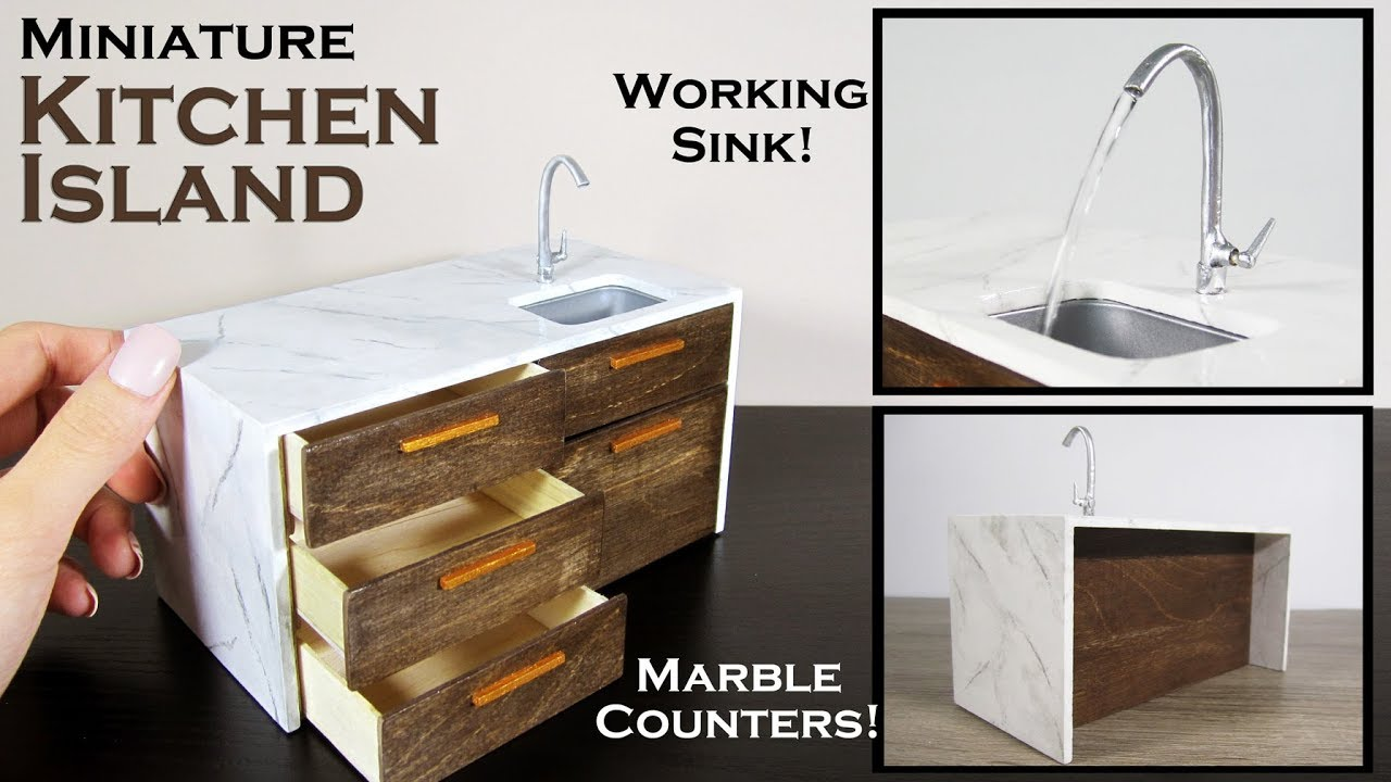 kitchen miniature ikea drawers diy island working sink youtube