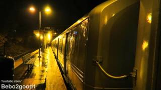 Staten Island Railway: Two Trains at Grasmere Station (60FPS)