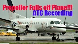 PROPELLER FALLS OF SAAB 340 IN FLIGHT! | ATC RECORDING Top 10 Video