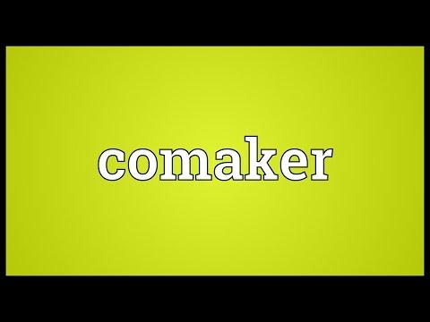 Header of comaker