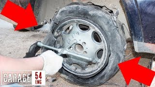 Driving one mile on a flat tire