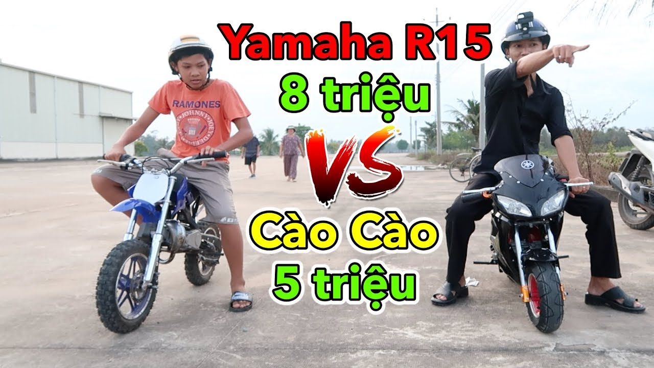 Lâm Vlog – Mua Xe Moto Yamaha R15 Mini 50cc Chạy Xăng Giá 8 triệu | Pocket Bike for Kids $400